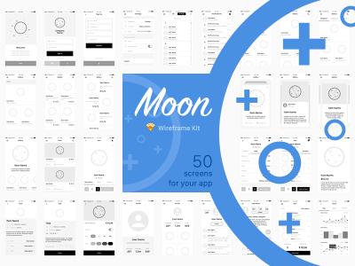 Moon Wireframe Kit