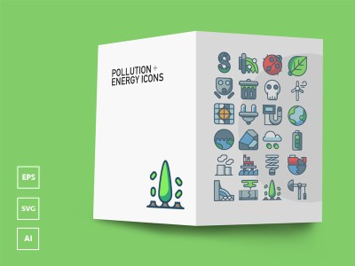 Freebie: Pollution and Energy Icons