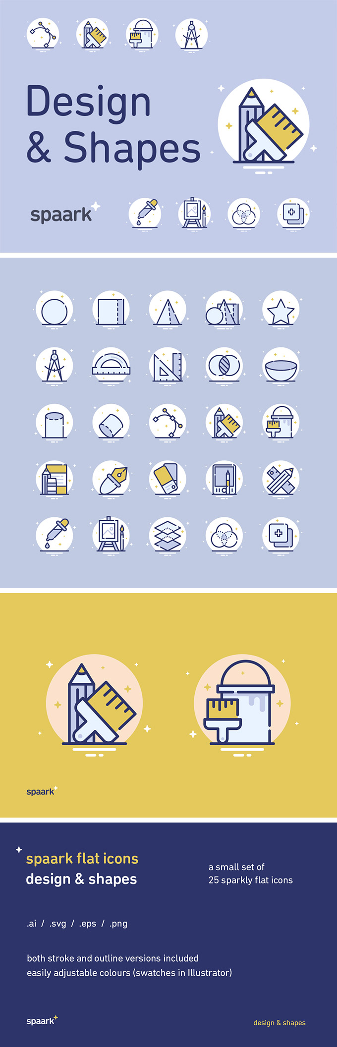 25 Design and Shapes Icons