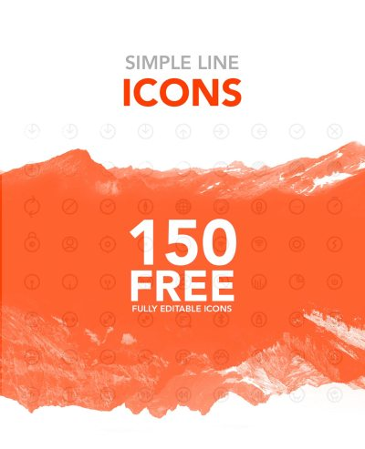 Free Simple Line Icons – 150 Free Icons