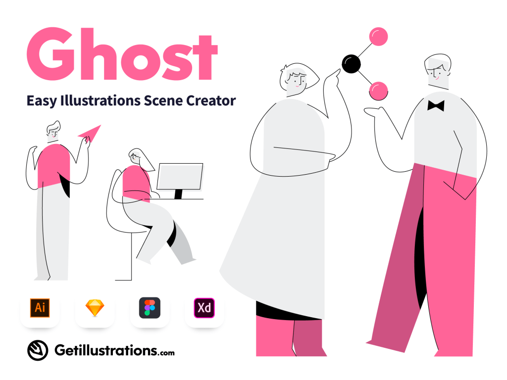 Ghost Easy Illustrations Scene Creator