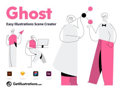 Ghost Easy Illustrations Scene Creator