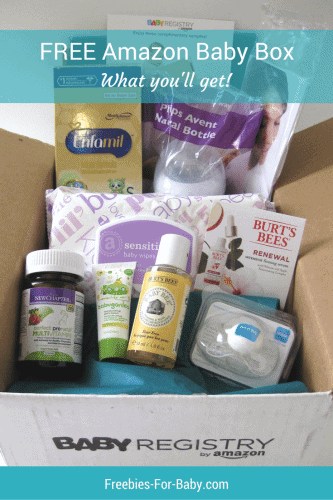 Free Amazon Baby Registry Welcome Box - what you'll get!