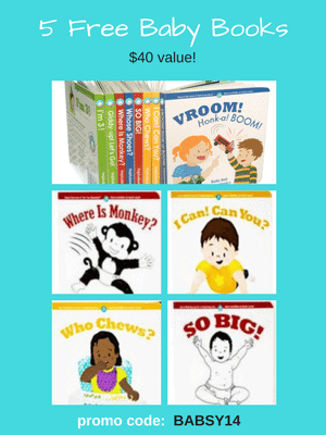 5 Free Baby Board Books from Babsy - $40 value! Use code: BABSY14 at checkout.