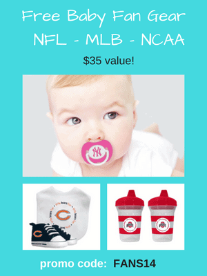 Free Baby Fan Gear - $35 value! Use code: FANS14 at checkout.