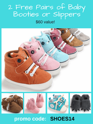 Free Baby Shoes - $60 value! Use code: SHOES14 at checkout.