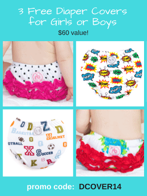 3 Free Diaper Covers - $59.95 value! Use code: DCOVER14 at checkout.