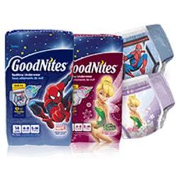 Free Samples of GoodNites diapers