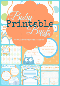 FREE Baby Book - 10 Printable (and adorable) Baby Book Pages to create your custom Baby Memory Book