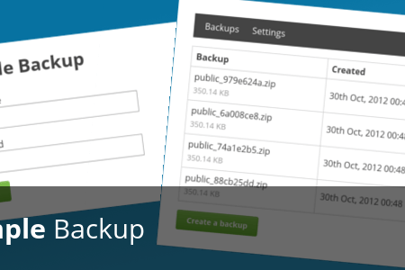 simple backup php