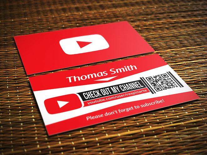 Free Youtube Business Card Psd Template Freebiesjedi