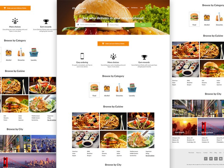food delivery website template free download freebiesjedi. Black Bedroom Furniture Sets. Home Design Ideas