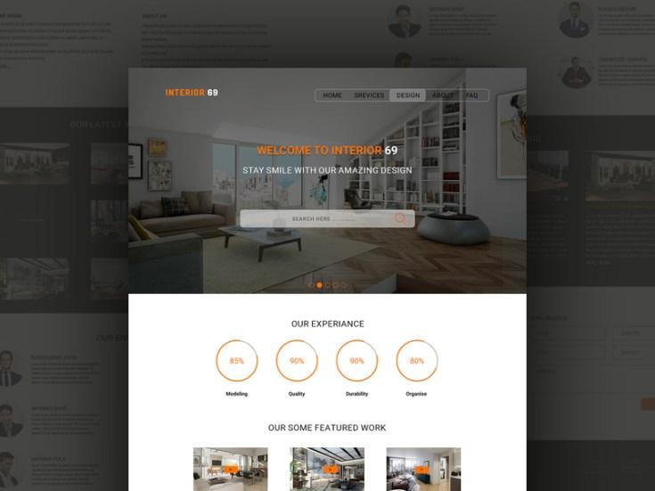 Interior69 Interior Design Service Psd Template Free Download Freebiesjedi