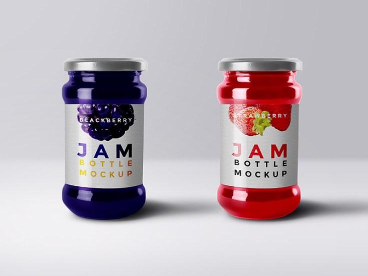 jam packaging mockup psd
