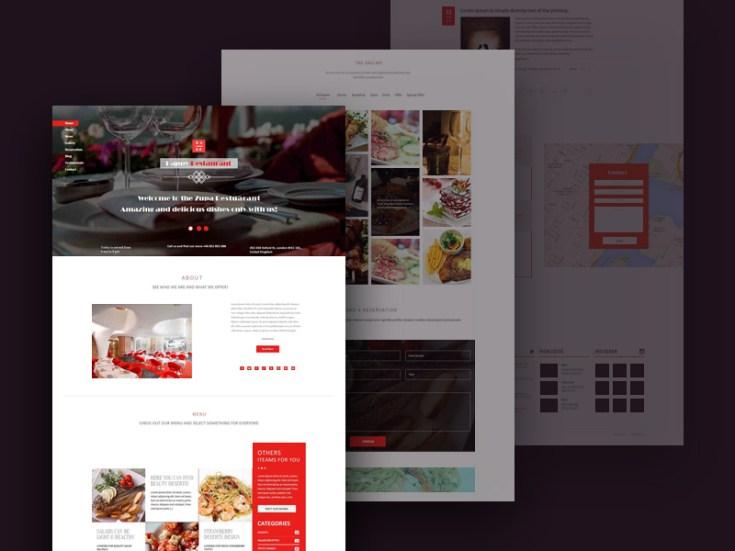 Restaurant psd template design free download freebiesjedi