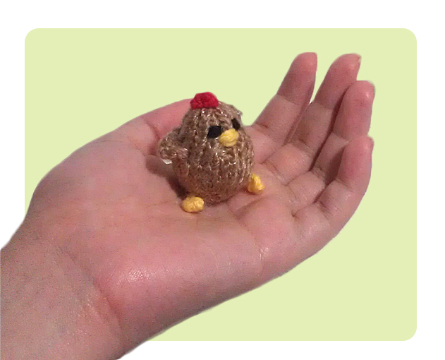 Free Tiny Chicken Cute Knitting Patterns How To Knit Tutorial