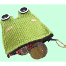 Super Cute Knitted Frog Coin Purse, Free knitting patterns!