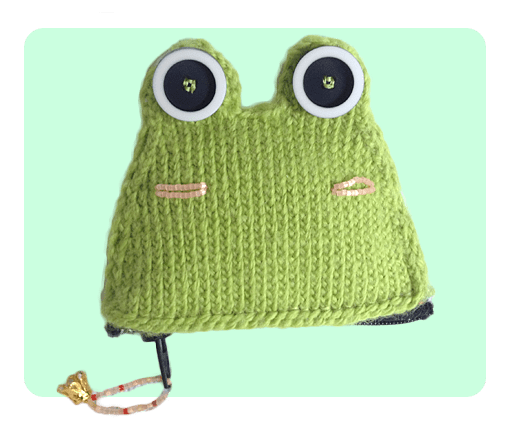 Free Frog Coin Purse Knitting Patterns, Video Tutorials included!