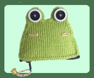 Frog Kero Keroppi Inspired coin purse free knitting patterns