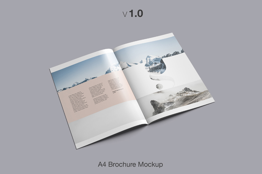 Free A4 Brochure Mockup     Free Design Resources Free A4 Brochure Mockup