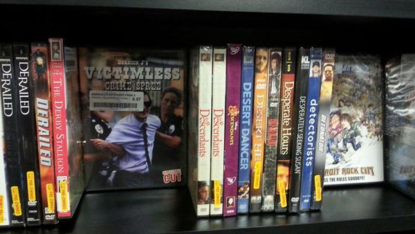 DJVCS DVDs on-the-shelf at Bull Moose, Keene!