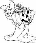 Winnie the Pooh Piglet printable halloween coloring pages disney