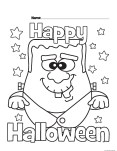 Halloween Happy Monster Printabel coloring pages