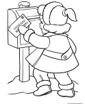 little girl sending a letter to Santa Claus print out