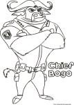 Printable chief bogo zootopia coloring pages