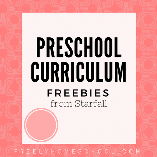 Preschool Curriculum Freebies from Starfall