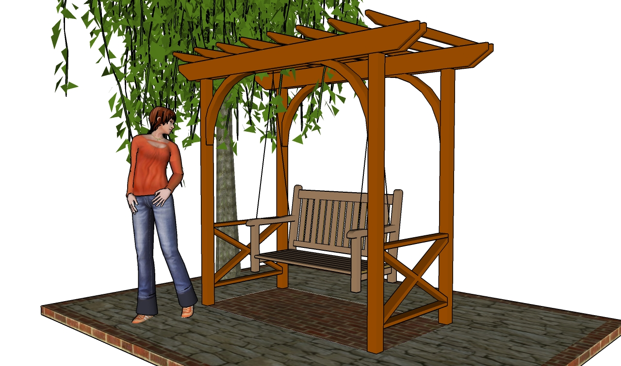 Download swing set plans pdf plans diy building wooden for Porch plans free