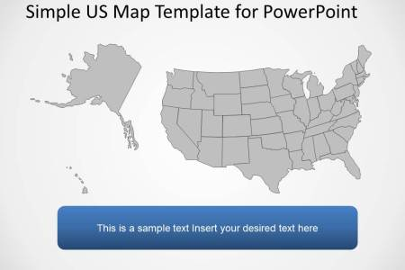 Free US Map PowerPoint Template Free PowerPoint Templates Map - Editable us map for powerpoint free