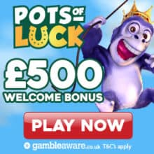 Pots of Luck Casino free spins