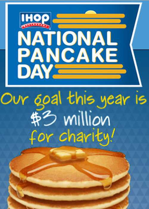 IHOP Free Pancakes on National Pancake Day on March 4, 2014
