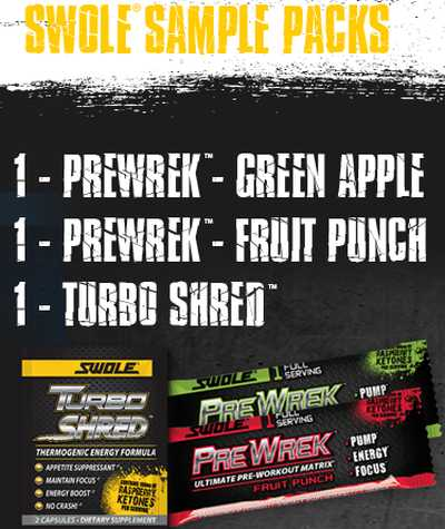 Swole Sports Nutrition Free Workout Supplement Sample - US