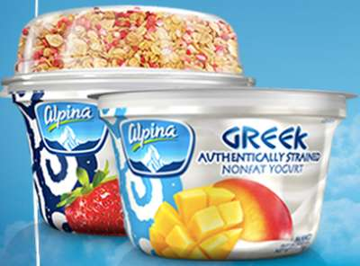 Alpina USA Free Alpina Greek Yogurt via Facebook