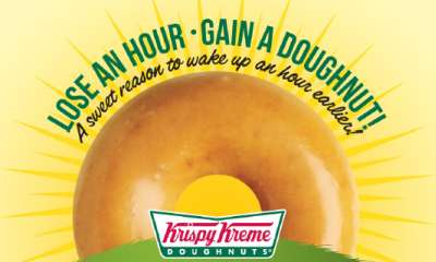 Krispy Kreme Doughnuts Free One Original Glazed Donut (Daylight Savings Event) - March 9, 2014, Canada and US