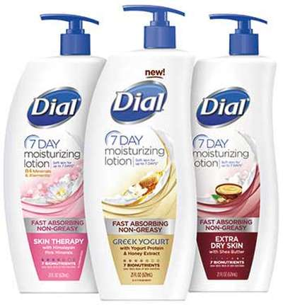 Dial Free 7-Day Moisturizing Lotion Sample - Exp. June 15, 2014