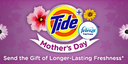 Tide Plus Febreze Laundry Detergent Free Sample for Mothers Day via Facebook - US