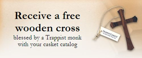 Trappist Caskets Free Wooden Cross Blessed by Monks by Requesting a Free Casket Catalog - US