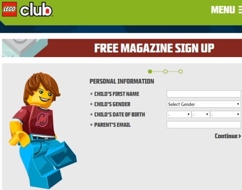 LEGO Club Free 2-Year Subscription to LEGO Club Jr. Magazine for Children