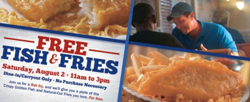Long John Silver's Free Fish & Fries on Saturday, August 2, 2014 from 11 a.m. to 3 p.m.