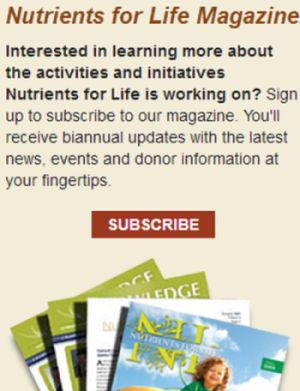 Nutrients For Life Magazine Free Subscription - US