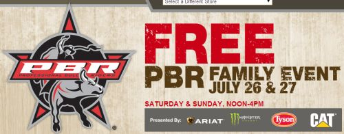 Bass Pro Shops Free PBR Family Event on July 26 and 27, 2014