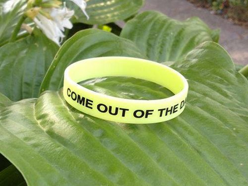 Come Out Of the Dark Free Glow in the Dark Depression Awareness Wristband via Facebook