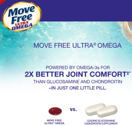 Schiff Move Free Ultra Omega Dietary Supplement Free Sample via Facebook - US
