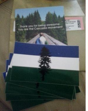 Cascadia Bioregion Free Stickers