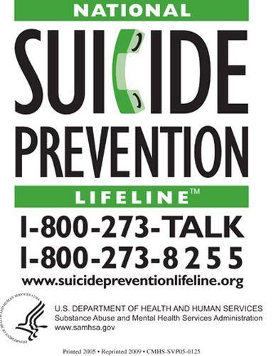 SAMHSA Free National Suicide Prevention Magnet - US