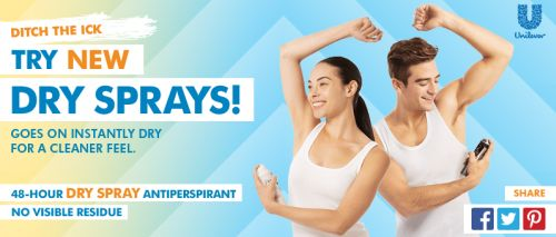 Walmart.com Free Dry Spray Antiperspirant by Mail After Watching a Video - US