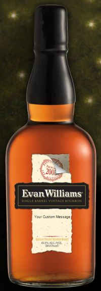 Evan Williams Single Barrel Free Personalized Label via Facebook - US